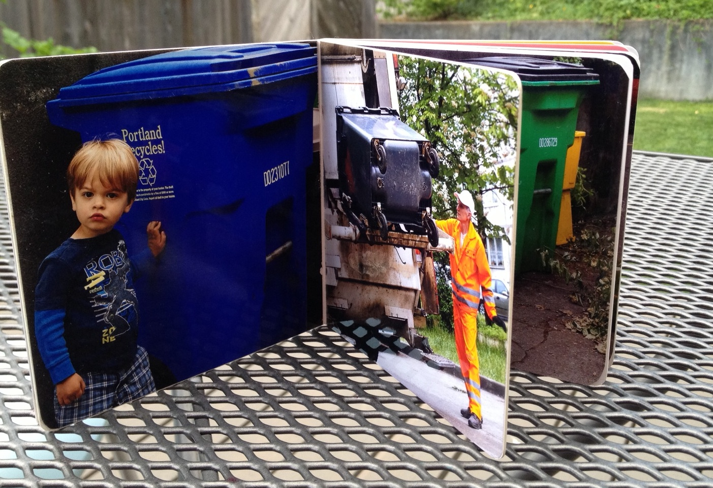 Personalized Garbage Truck Book