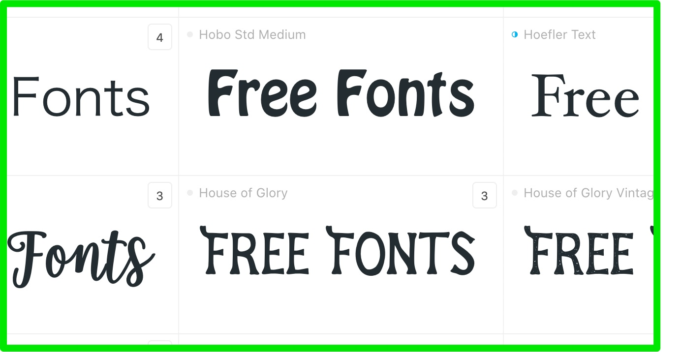 Free Fonts with Commercial Licenses